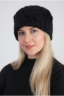 Karakul sheep fur hat